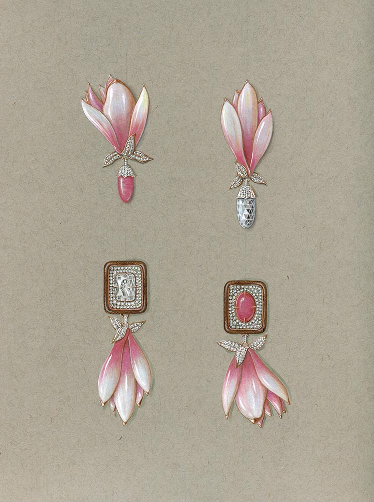 Magnolias Earrings