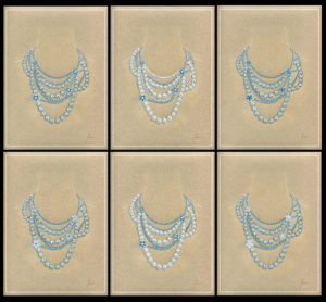 8-Diamonds Aqua and Pearls Variation for Yana Jewellery - copie copie